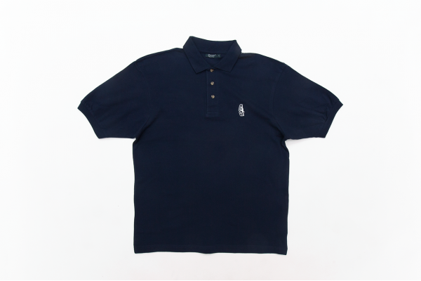 SUMMER POLO BLUE W/WHITE LOGO L