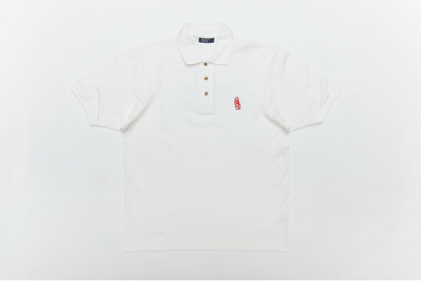 SUMMER POLO WHITE W/RED LOGO L