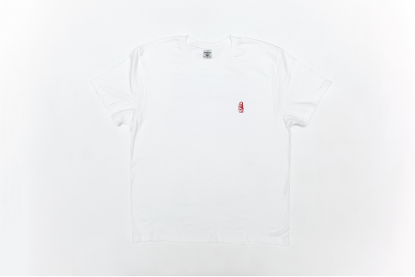 SUMMER T-SHIRT WHITE W/RED LOGO L