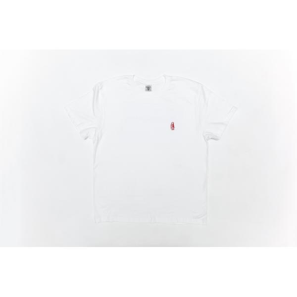 SUMMER T-SHIRT WHITE W/RED LOGO L