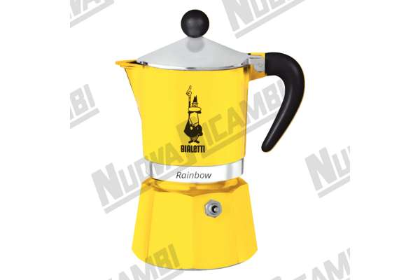 MOKA RAINBOW 6CUPS YELLOW