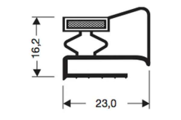 REFRIGERATOR GASKET - ROD 2550mm